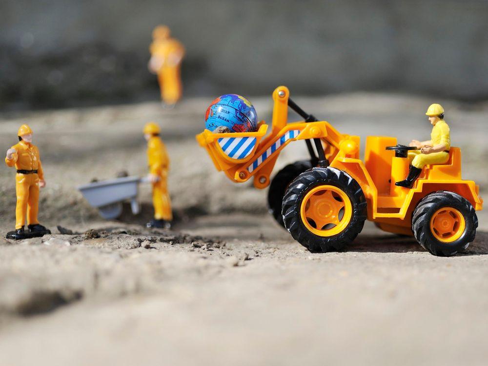 Bulldozer Destroying the Earth