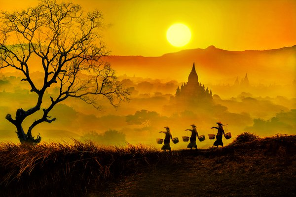 Beautiful of Bagan sunset thumbnail