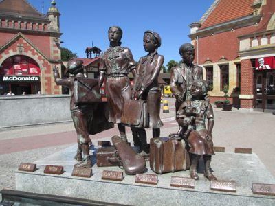 The Kindertransport memorial in Gdansk.