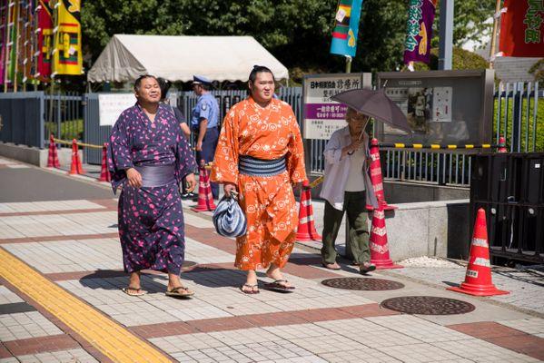 Sumoworstelaars in Tokio thumbnail