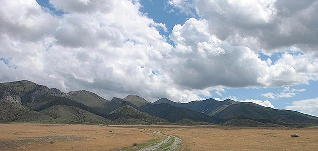 Road connecting monument and Chief Rolling Thunder Mountains hidden retreat