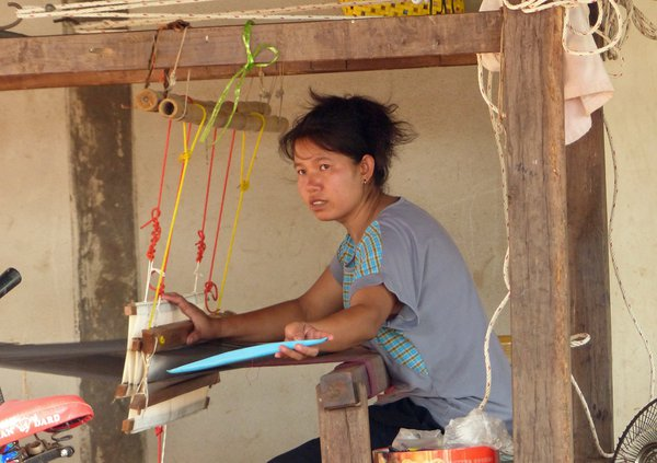 Poor Weaver in a village in Thailand thumbnail