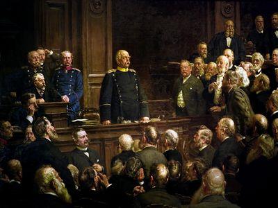 Otto von Bismarck addressing the Reichstag