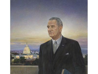 Peter Hurd's famous portrait of Lyndon Baines Johnson