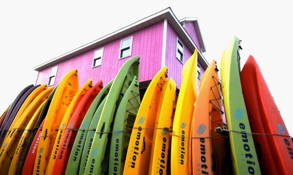 Row of kayaks thumbnail
