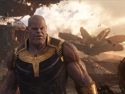 Voiced by Josh Brolin, the hulking alien aggressor Thanos moves and speaks precisely as Brolin did on set, thanks to state-of-the-art performance-capture technology.