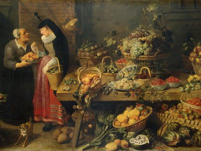 Frans Snyders' Fruit Stall features a vast spread of produce from the 17th century.