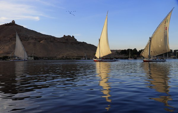 Felluccas on the Nile at Sunset thumbnail