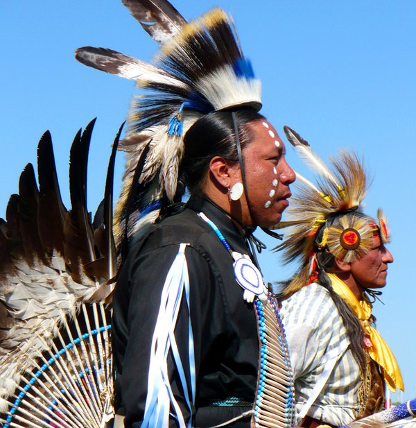 Lakota Traditional Dancers In The Pow Wow Arena. thumbnail