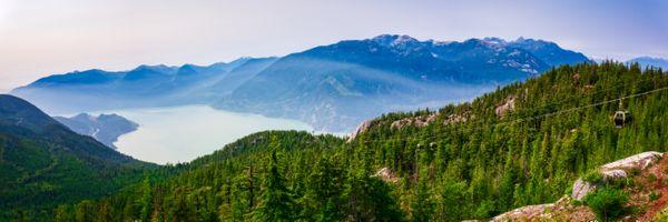 Panarama of Howe Sound, British Columbia, Canada thumbnail