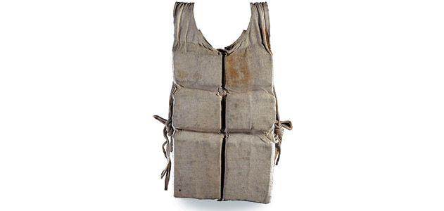 a Titanic life vest