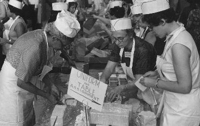 Food service crew workers