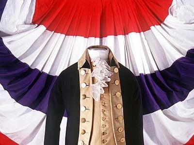 Uniform worn by George Washington during the American Revolution.