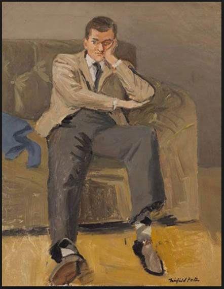 John Ashbery (Argyle Socks) by Fairfield Porter/ Oil on canvas, 1952/ Collection The Flow Chart Foundation. Courtesy Tibor de Nagy Gallery, New York