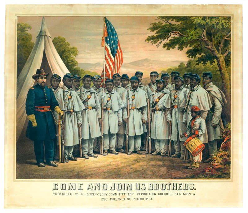 Print of military regiment in uniform