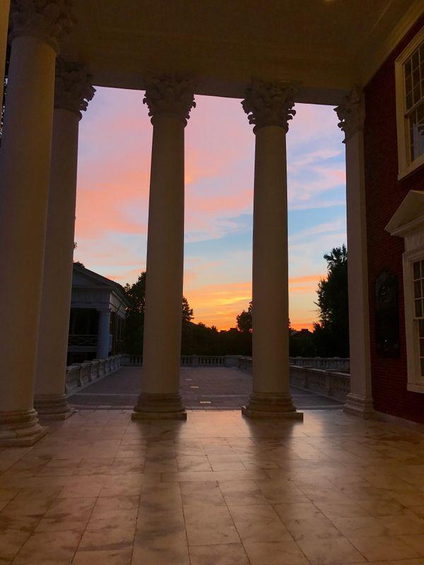 Mr. Jefferson's University at sunset thumbnail