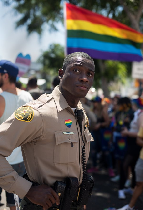 L.A. County Sheriff's deputy at Los Angeles Pride Parade  thumbnail