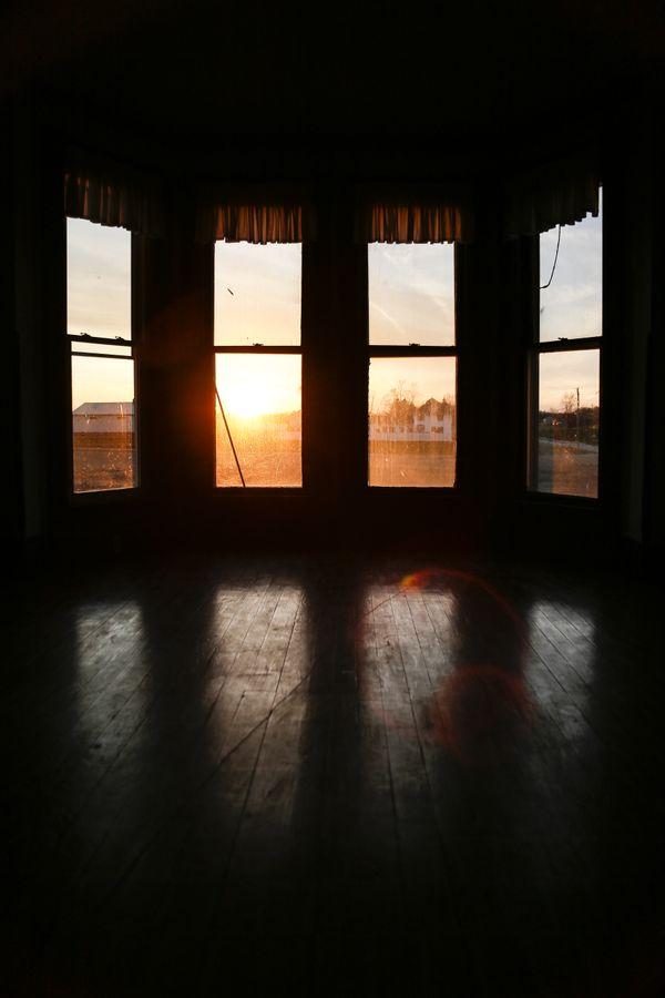 Sunset through a Victorian window thumbnail