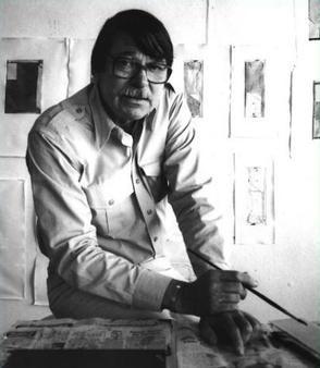 Richard Diebenkorn in his studio in 1986