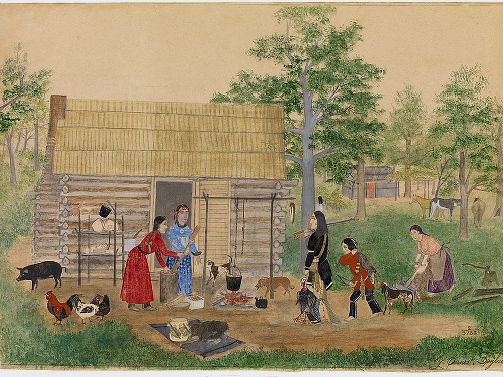 Thanksgiving, as the United States' origin story, leaves out painful truths about the nation's history. Giving thanks, however, has always been part of Native Americans' everyday lives. Image: Earnest L. Spybuck (Absentee Shawnee, 1883–1949).