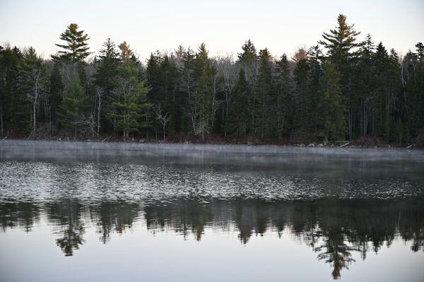 Morning Mist on Halfmoon Pond. thumbnail