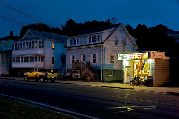 Teenagers hanging out at night in the small town of Nahant Massachusetts thumbnail