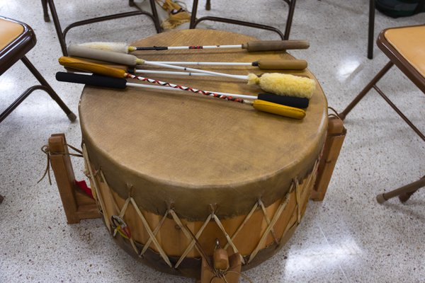 Drum used in Lenape ceremony thumbnail