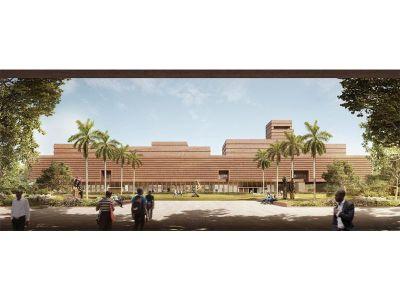Artist's rendering of the Edo Museum of West African Art's exterior