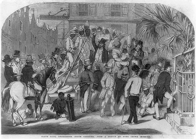 Slave sale, Charleston, South Carolina