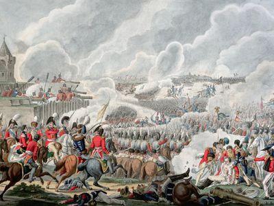 Battle of Waterloo on 18 June 1815, by Artaria