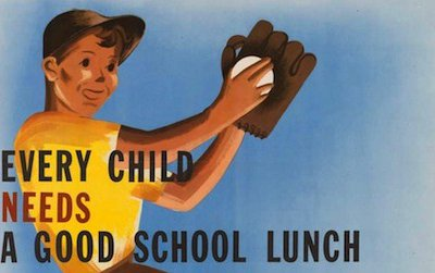 School lunch program poster