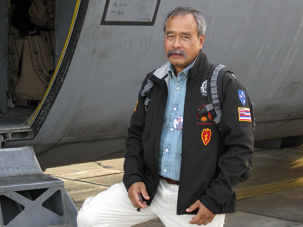 Specialist Allen Kale'iolani Hoe (U.S. Army retired), the son and grandson of veterans and a Gold Star father, serves on the advisory committee of the National Native American Veterans Memorial. (Courtesy of Allen Hoe)