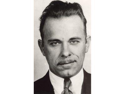 John Dillinger's mugshot.
