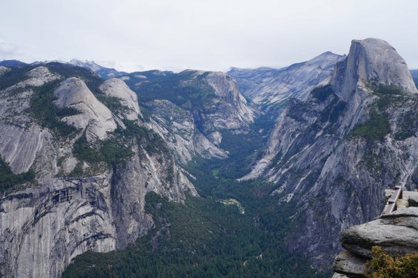 Yosemite Valley from Glacier Point with Half Dome thumbnail