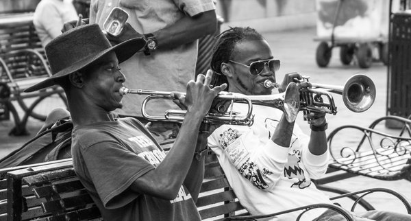 Street musicians in Jackson Square thumbnail