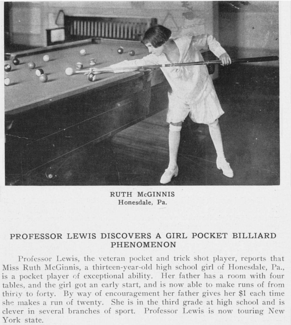 Ruth McGinnis: The Queen of Billiards