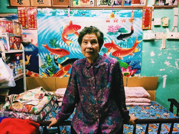 My paternal grandmother in her home in Pak Tin Estate, Kowloon, Hong Kong. thumbnail