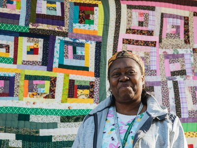 In honor of Black History Month, Etsy debuted nine online stores featuring work by Gee's Bend quilters (including Doris Pettway Mosely, who is pictured here).
