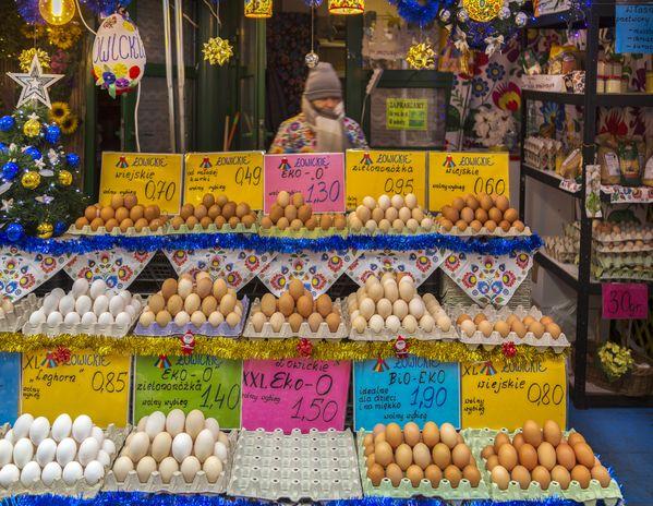 Farmer's Market in Warsaw, Poland. thumbnail