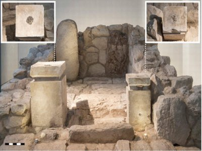 Archaeologists found the two altars seen here featured burnt cannabis (right) and frankincense (left), respectively.