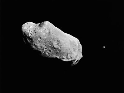 Soon, space miners could lay claim to minerals in asteroids like this one.
