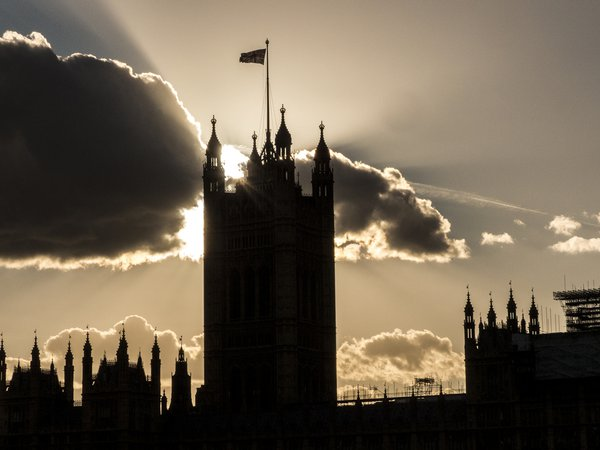 The sun sets on the Palace of Westminster. thumbnail