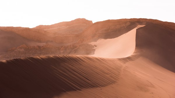 Dunes in the Valle de la Luna in the Atacama Desert thumbnail