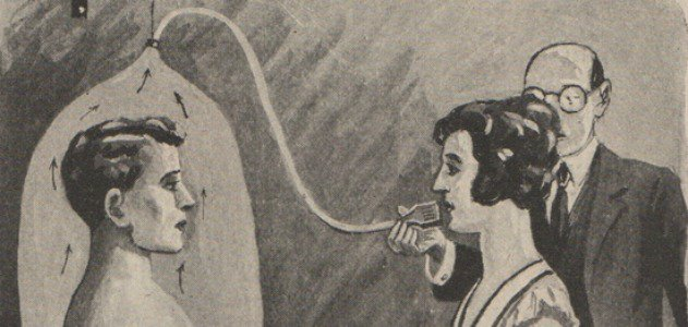 A woman is made to smell her partner's body odors to see if they're suitable for marriage