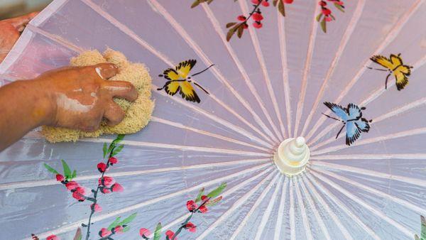 Oil cloth umbrella thumbnail