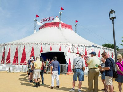Lining up at the Big Top for the 2017 Smithsonian Folklife Festival
