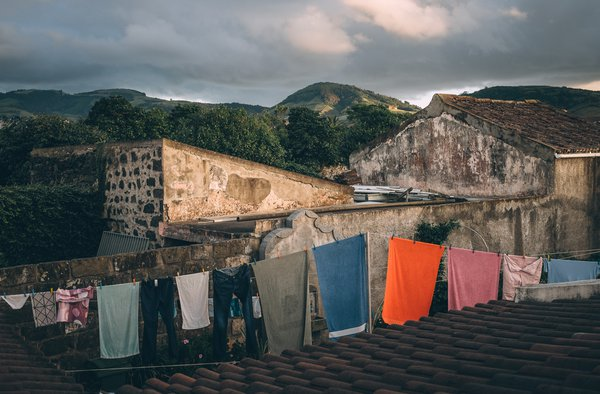 Drying laundry in the evening light, Azores thumbnail
