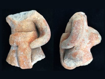 An Etlatongo ballplayer figurine unearthed at the site