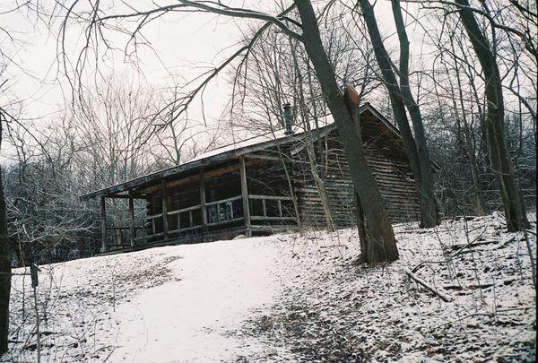 Cabin in winter thumbnail