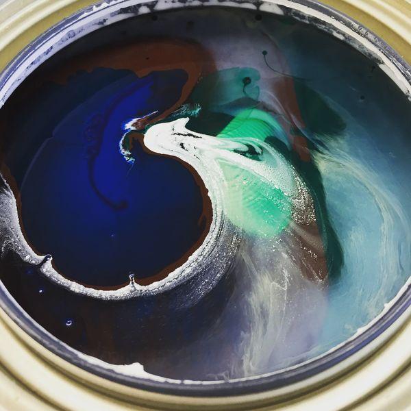 Paint mixing - peacock thumbnail